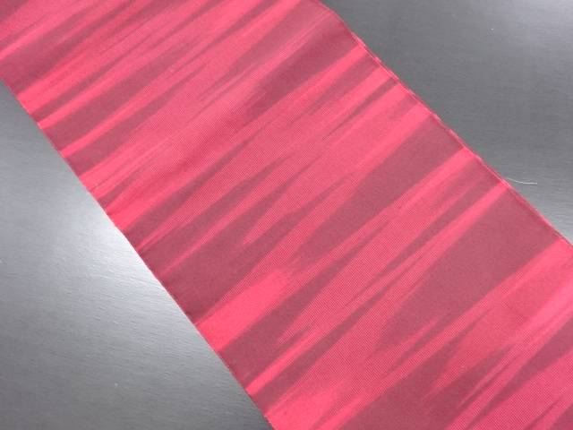 本綴れ 霞模様織り出し名古屋帯【リサイクル】【中古】
