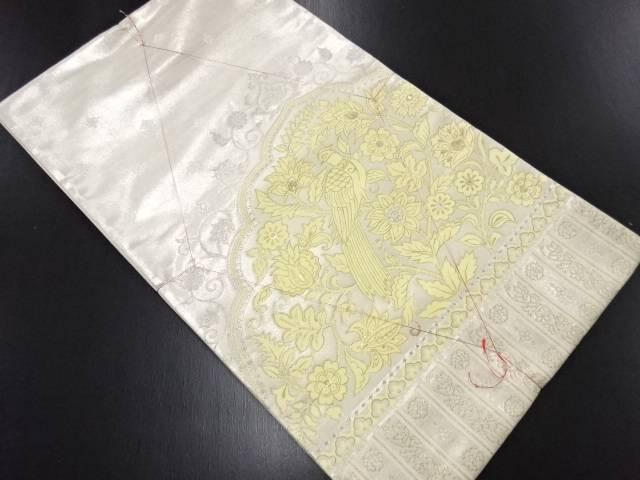 未使用品 金銀糸花鳥更紗模様織り出し袋帯【リサイクル】【中古】