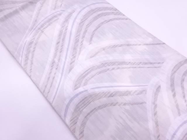 波模様織出し袋帯【リサイクル】【中古】