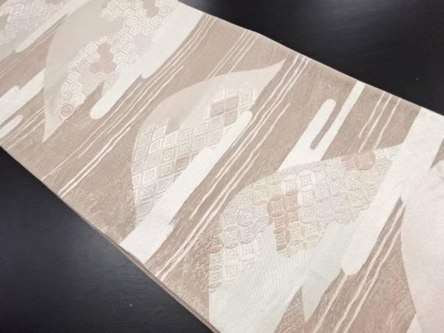 紗遠山に古典柄織り出し袋帯【リサイクル】【中古】