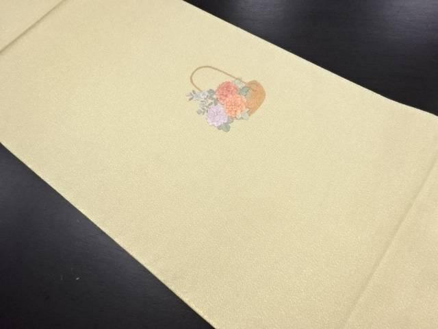 砂子綴れ花籠模様刺繍袋帯【リサイクル】【中古】