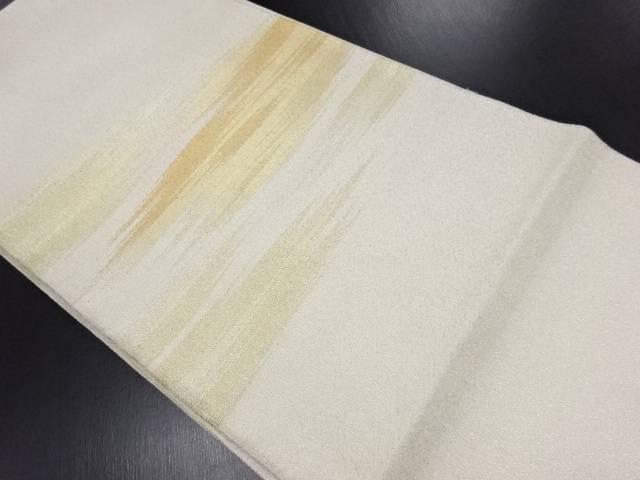 金銀糸霞模様織り出し袋帯【リサイクル】【中古】