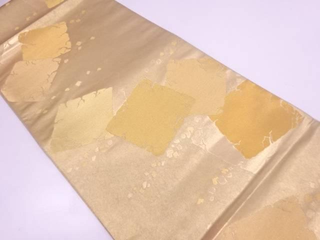 未使用品 引き箔破れ色紙模様織出し袋帯【リサイクル】【中古】