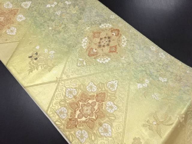 本金箔 正倉院平成華紋織り出し袋帯【リサイクル】【中古】
