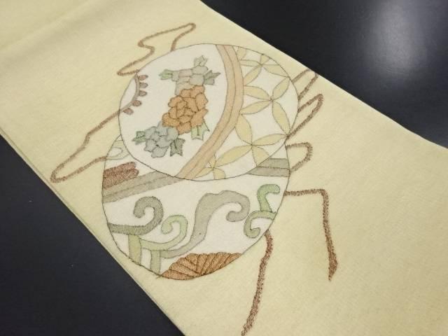 紗毬模様織り出し袋帯【リサイクル】【中古】