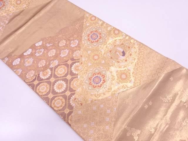 高島織物製 切嵌風花鳥模様織出し袋帯【リサイクル】【中古】