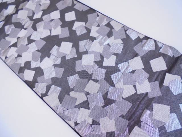 川島織物製 色紙尽くし模様織出し袋帯【リサイクル】【中古】