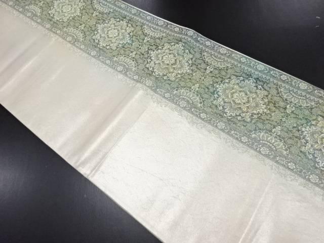 引き箔更紗献上糸紋織り出し袋帯【リサイクル】【中古】