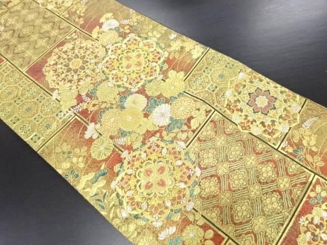 本金華紋織り出し袋帯【リサイクル】【中古】