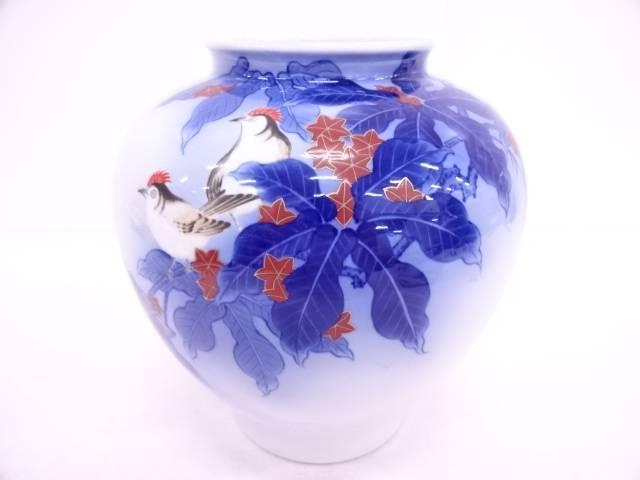 香蘭社 花鳥紋花瓶