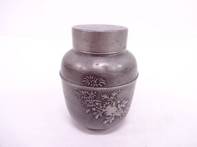 錫四君子紋茶芯壺