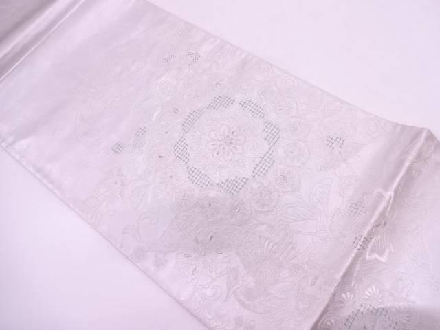 汕頭相良刺繍花更紗模様袋帯【リサイクル】【中古】
