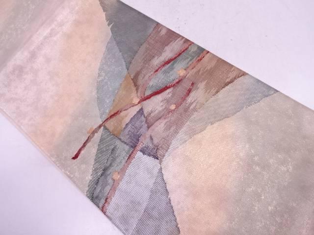 未使用品 抽象山並み模様織出し袋帯【リサイクル】【中古】