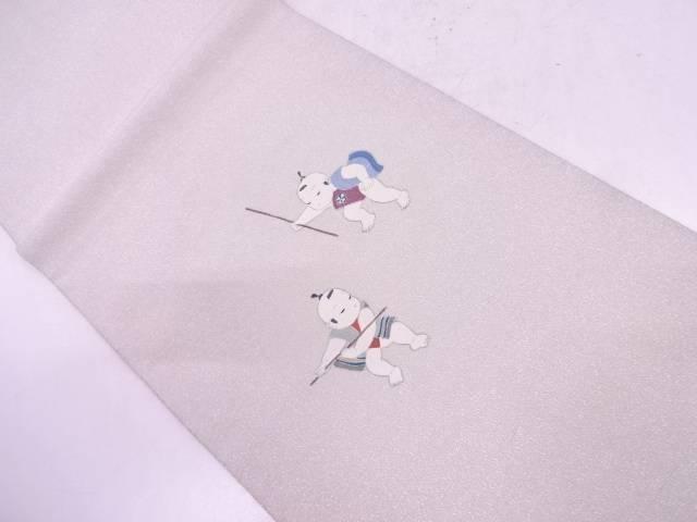綴れ御所人形模様織出し袋帯【リサイクル】【中古】