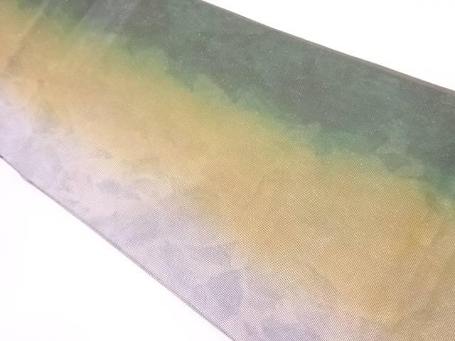 作家物 縞に抽象模様袋帯【リサイクル】【中古】