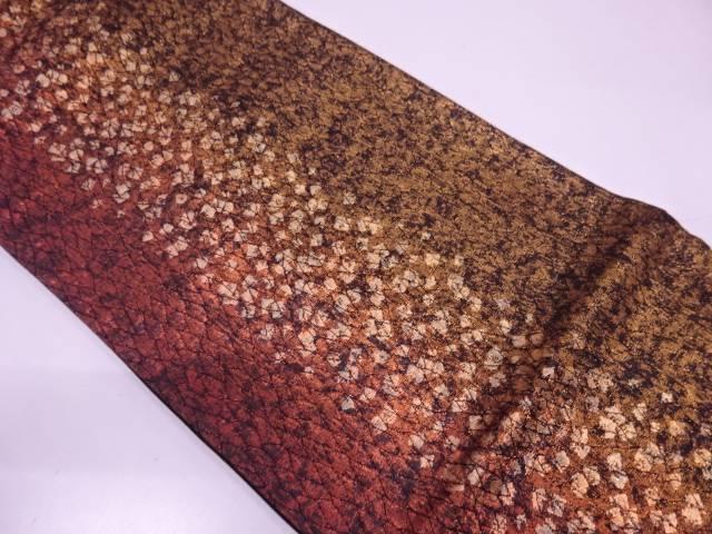 破れ色紙散らし模様織出し袋帯【リサイクル】【中古】