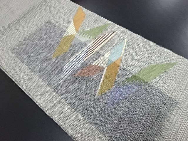 未使用品 すくい織切りばめ模様織り出し名古屋帯【リサイクル】【中古】