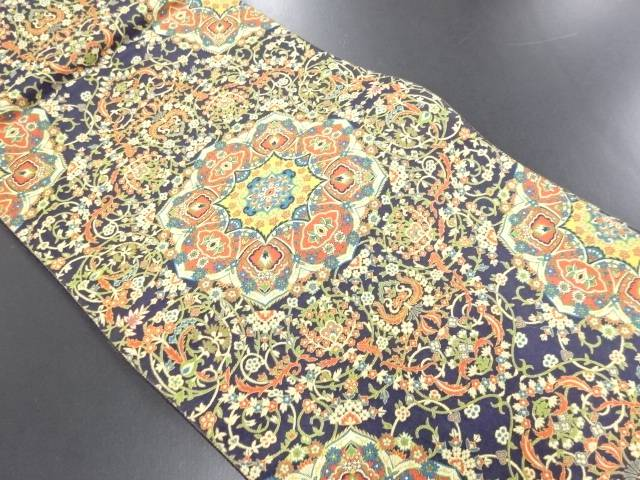 華紋更紗織り出し全通袋帯【リサイクル】【中古】