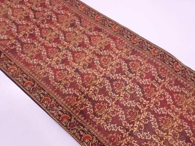 未使用品 手織り漆更紗装飾文織出し袋帯【リサイクル】【中古】