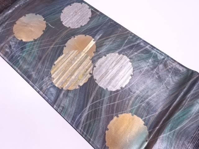 螺鈿雪輪模様袋帯【リサイクル】【中古】