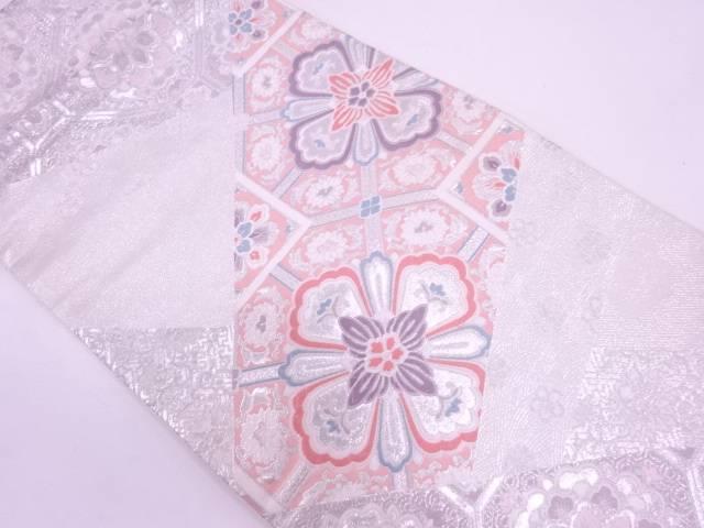 花蜀江紋模様織出し袋帯【リサイクル】【中古】