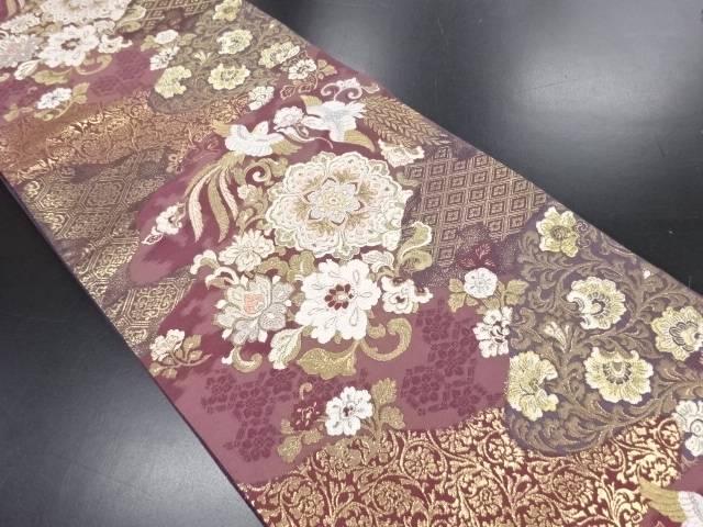 純金箔道長瑞鳥華文織り出し袋帯【リサイクル】【中古】