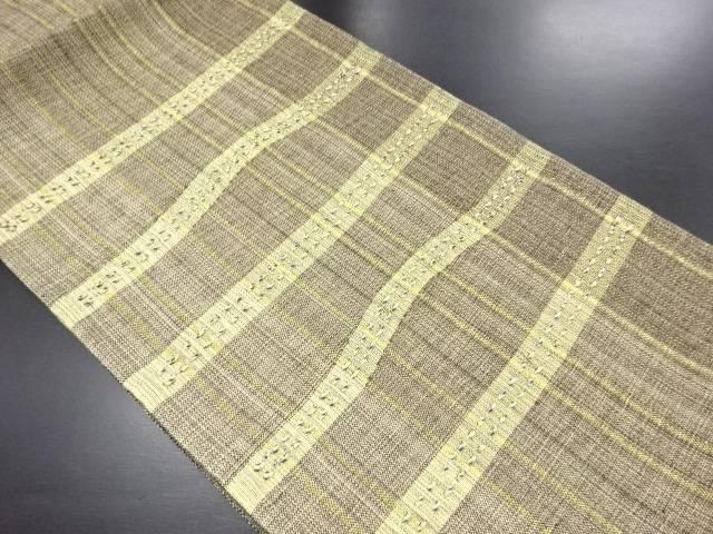 未使用品 金糸横段織り出し袋帯(未仕立て)【リサイクル】【中古】
