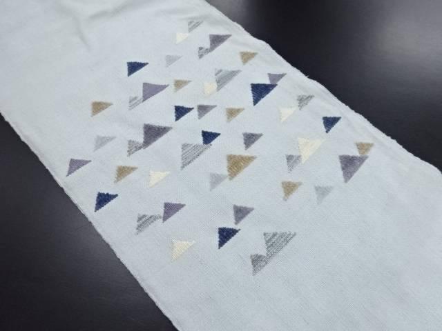 変わり織 鱗模様織り出し名古屋帯【リサイクル】【中古】
