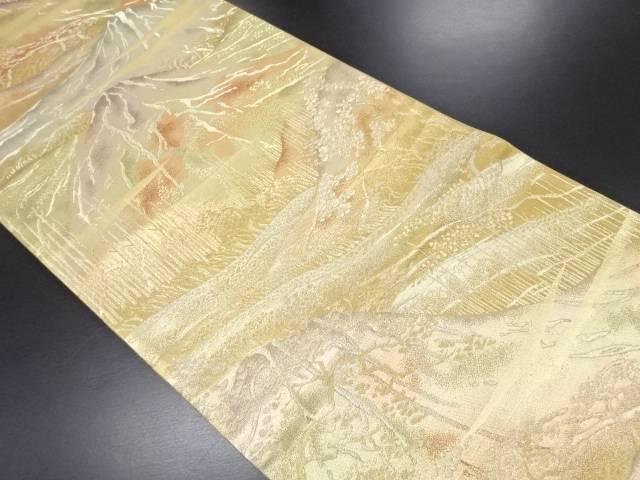 未使用品 永井織物製 遠山模様織り出し袋帯(未仕立て)【リサイクル】【中古】