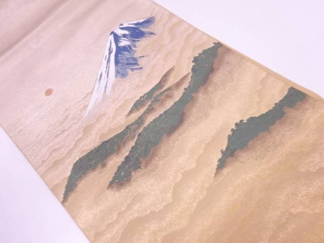 じゅらく謹製 横山大観監修 神嶺不二山模様織出し袋帯【リサイクル】【中古】