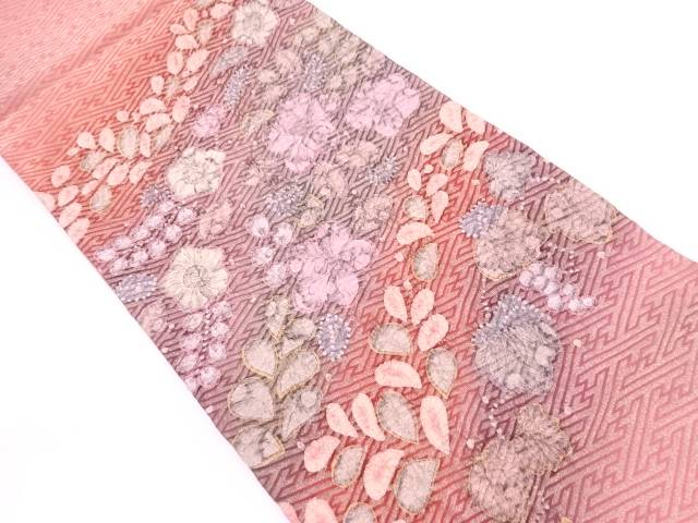 絞り辻ヶ花袋帯【リサイクル】【中古】