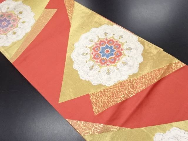 華紋織り出し袋帯【リサイクル】【中古】