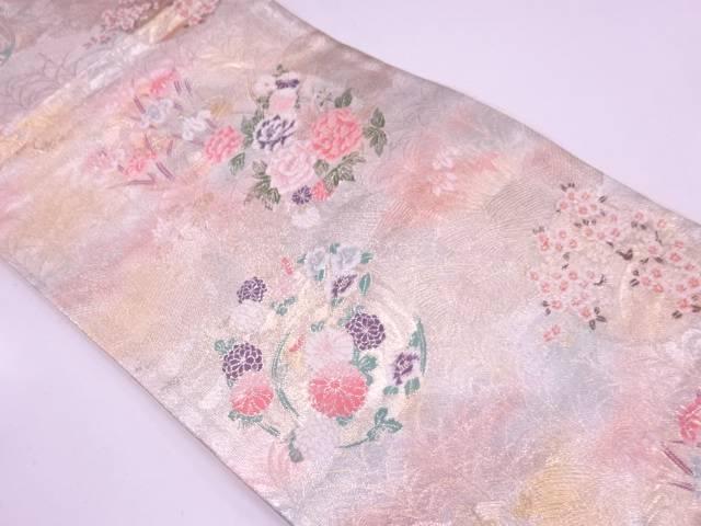 花丸文様織出し袋帯【リサイクル】【中古】
