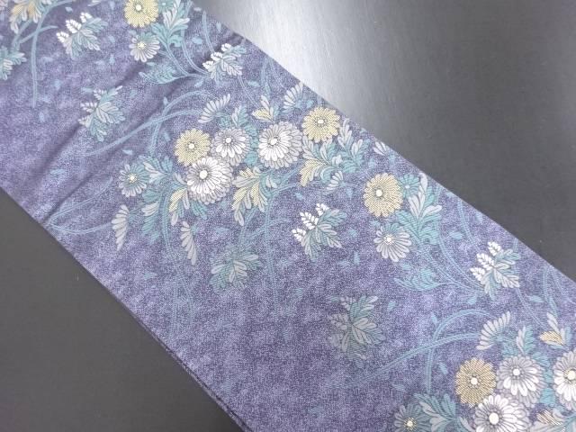 金糸 菊桐模様織り出し袋帯【リサイクル】【中古】