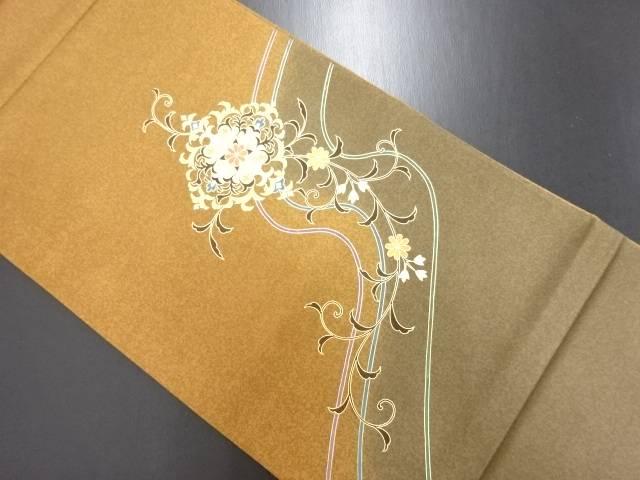 金彩 華紋更紗模様袋帯【リサイクル】【中古】