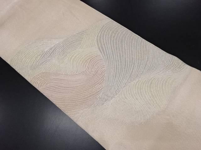 紗 波模様織り出し袋帯【リサイクル】【中古】