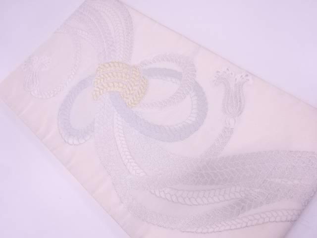 未使用品 組紐模様織出し袋帯【リサイクル】【中古】