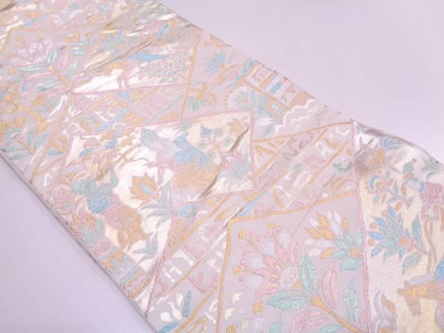エジプト更紗文織出し袋帯【リサイクル】【中古】