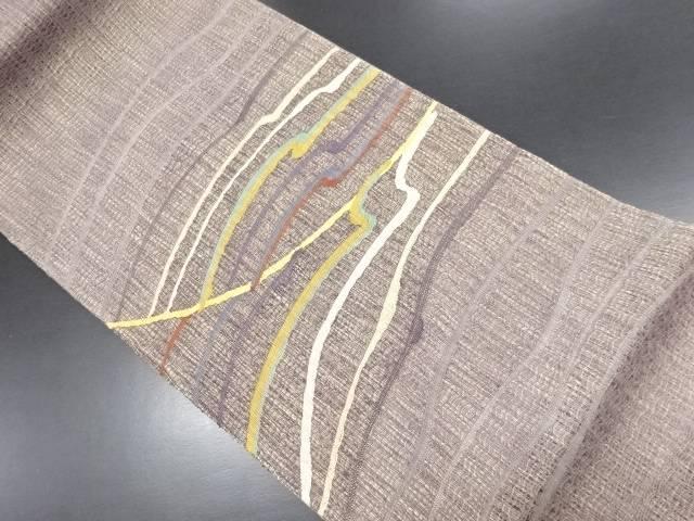 金通しすくい織波模様織り出し袋帯【リサイクル】【中古】【09OFF】