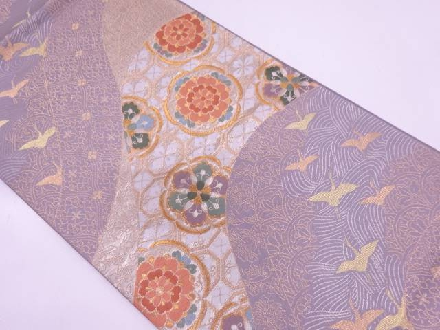古典華文織出し袋帯【リサイクル】【中古】