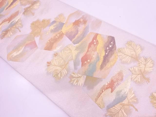 慶賀亀甲文織出し袋帯【リサイクル】【中古】