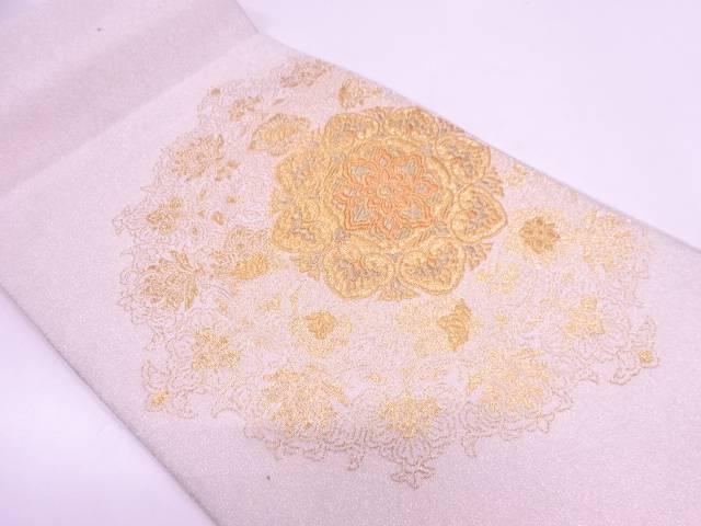綴れ純金箔24K華文模様織出し袋帯【リサイクル】【中古】