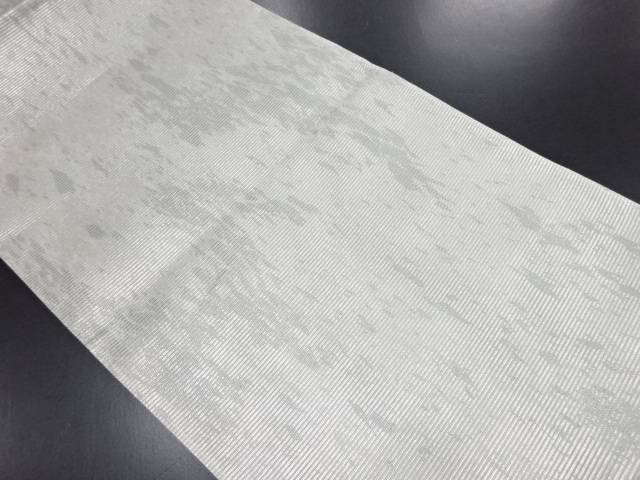 絽 引箔 抽象模様袋帯【リサイクル】【中古】