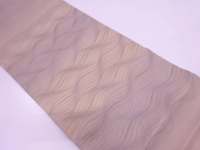 よろけ横段模様織出しぼかし袋帯【リサイクル】【中古】