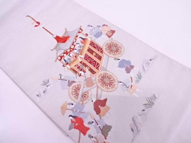 綴れ山鉾風景模様刺繍袋帯【リサイクル】【中古】【09OFF】