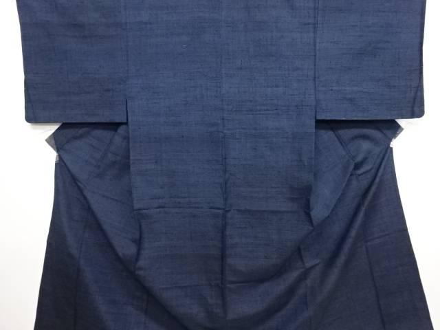 手織り真綿紬単衣男物着物【リサイクル】【中古】