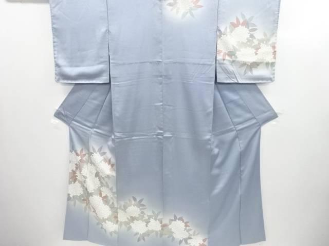 紫陽花模様刺繍一つ紋訪問着【リサイクル】【中古】