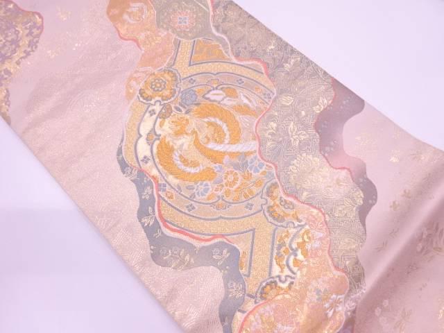 純金箔正倉院道長紋織出し袋帯【リサイクル】【中古】