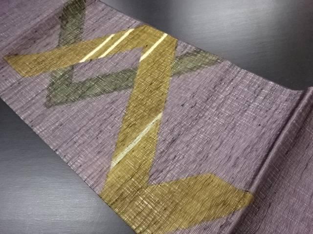 紗すくい織抽象模様袋帯【リサイクル】【中古】(natsuk)