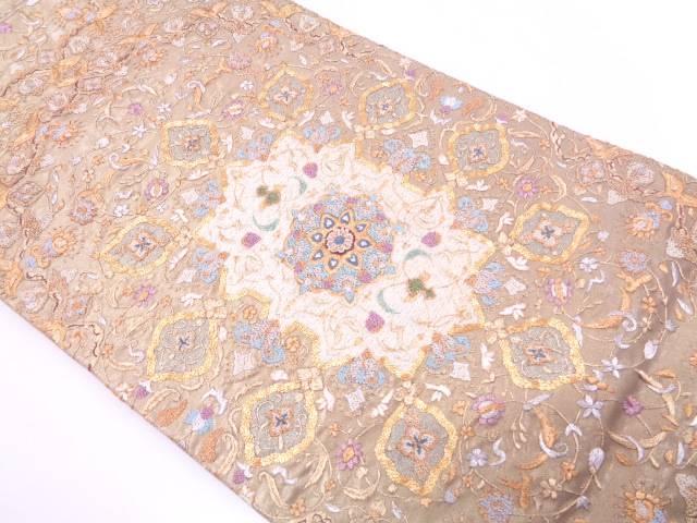 相良蘇州刺繍華紋模様袋帯【リサイクル】【中古】